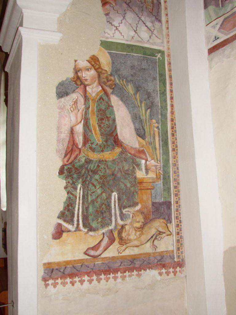 Freska v cerkvi